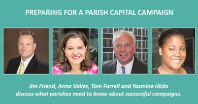 Preparing for a Parish Capital Campaign